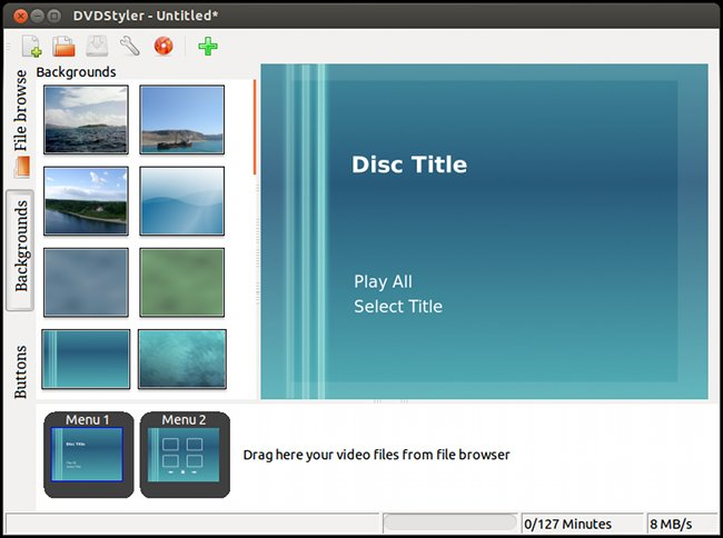 User Interface of DVDStyler version 2.1