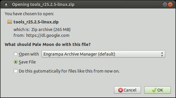 downloading tools_r25.2.5-linux.zip