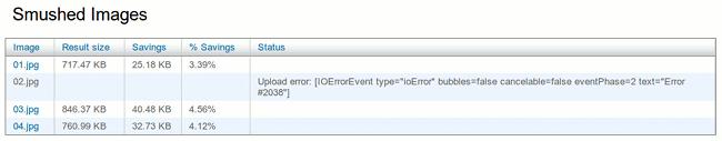 Smush.it error when uploading large file