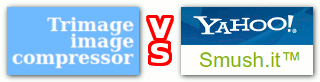 Trimage Image Compressor vs Yahoo Smush.it