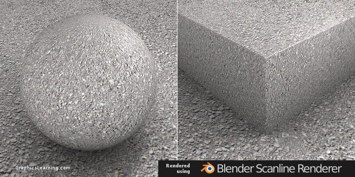 Seamless Asphalt Concrete texture rendered