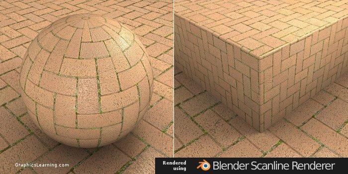 Seamless Brick 01 texture rendered