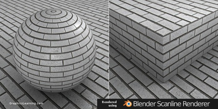 Seamless Brick 02 texture rendered