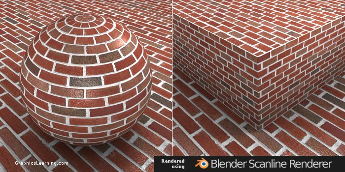 Seamless Brick 03 texture rendered